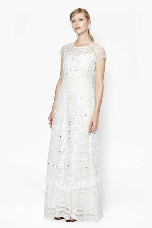 b3d2ebfa8f Picture Coachella Embroidered Maxi Dress with metal embellishments. Sweetly  simple and elegant, perfect for